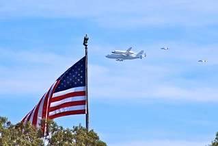 Space Shuttle Endeavor over Pasadena, CA | by Karol Franks
