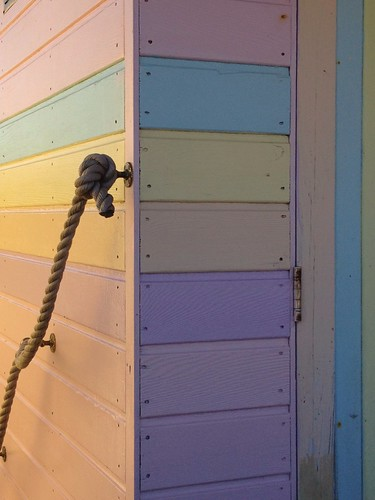 Candy-striped beach hut, Whitstable | by NovemberAlex