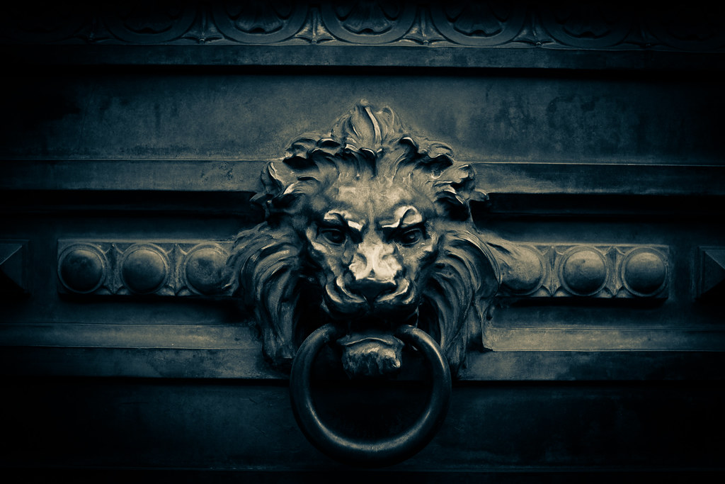 Beau ... Lionu0027s Head Door Knocker | By A.pitch