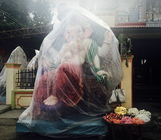 Ganesh in plastic