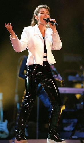 Shania Twain Shiny Tight Black Vinyl Jea Gitblp Flickr