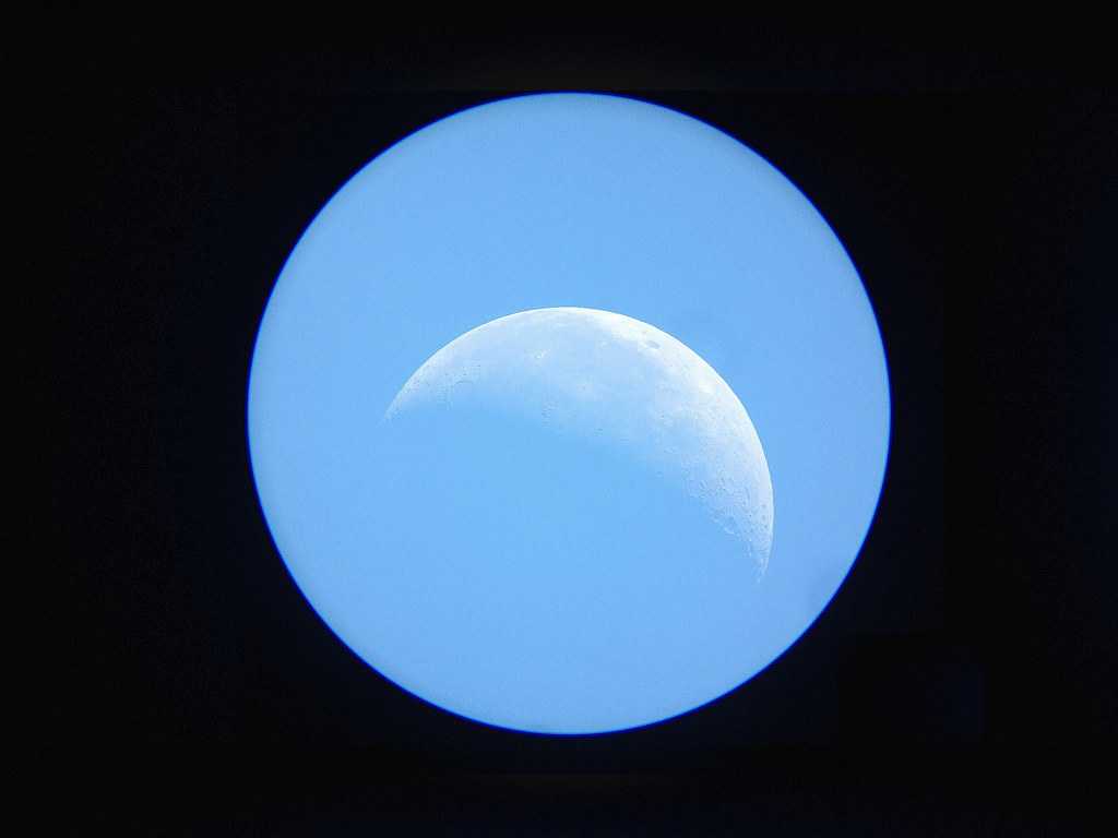 Moon through a telescope during the day | joelwillis | Flickr