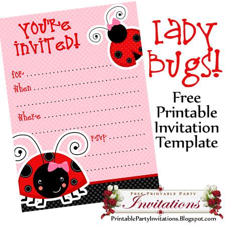 Free Printable Ladybug Invitations A Free Printable Templa Flickr