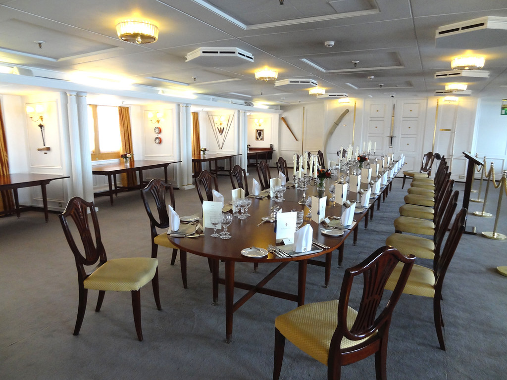 Royal Yacht Britannia State Dining Room
