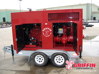 Silent Dewatering Pump with a Galvanized Trailer | by GriffinDewatering