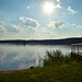 Sun shining over the lake