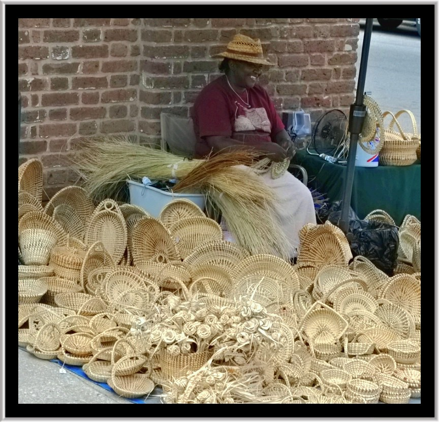 Basket Making Supplies North Carolina : Sweetgrass baskets the traditional coiled gullah style