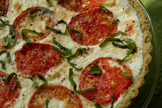 tomato basil tart 5 | by crumblycookie