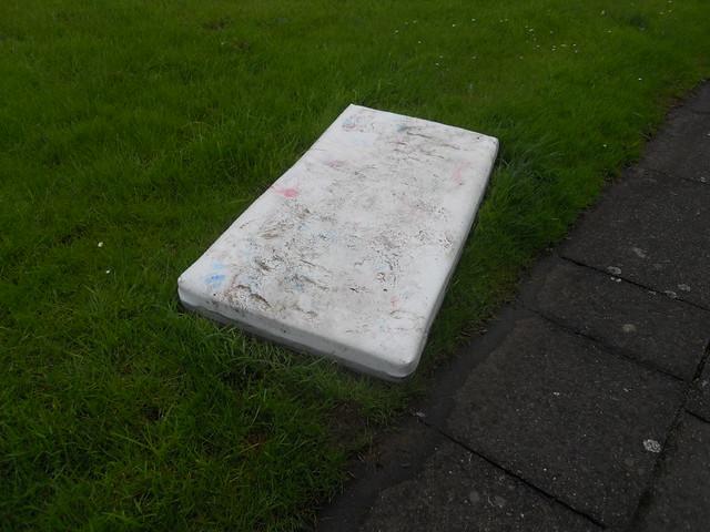 Dirty old mattress