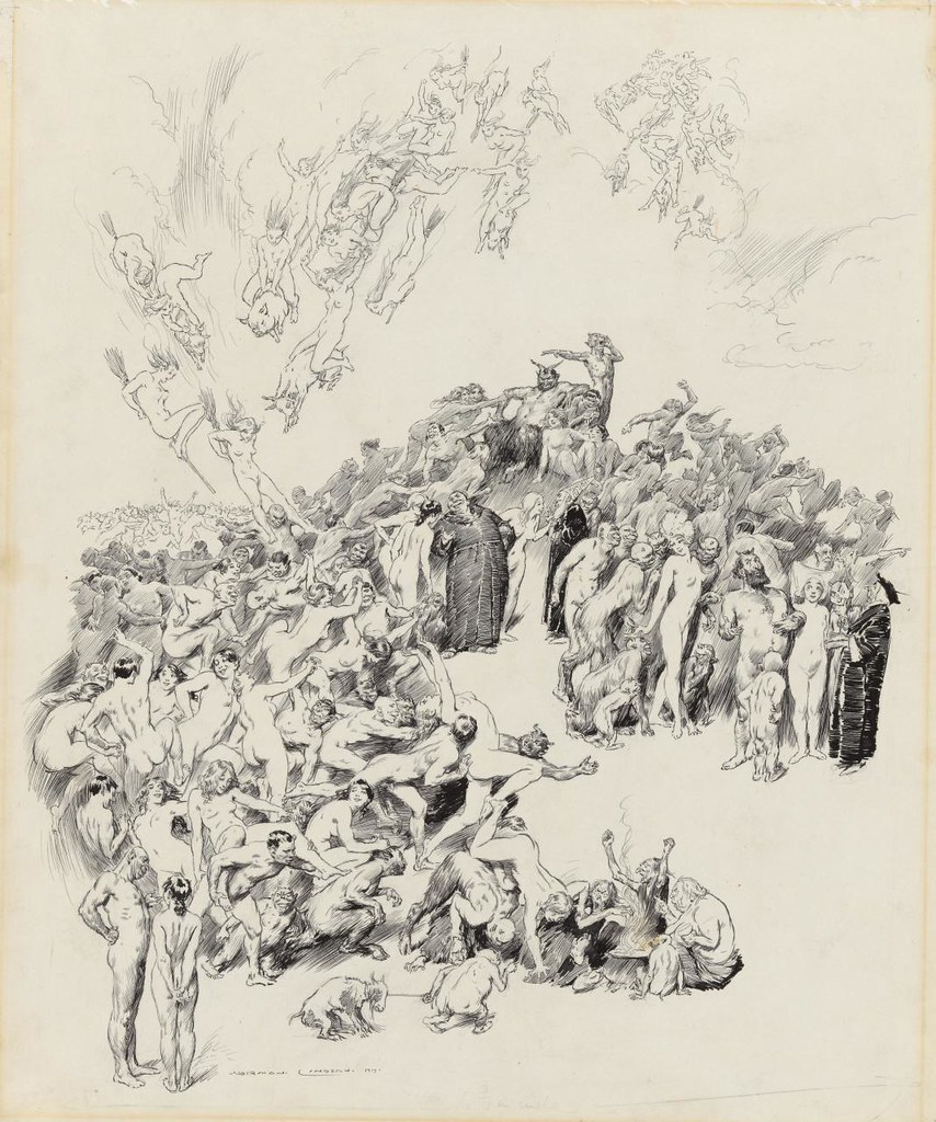 Norman Lindsay - The Witches Sabbath, 1917
