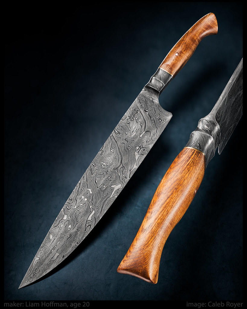 liam hoffman damascus chefs knife. Black Bedroom Furniture Sets. Home Design Ideas