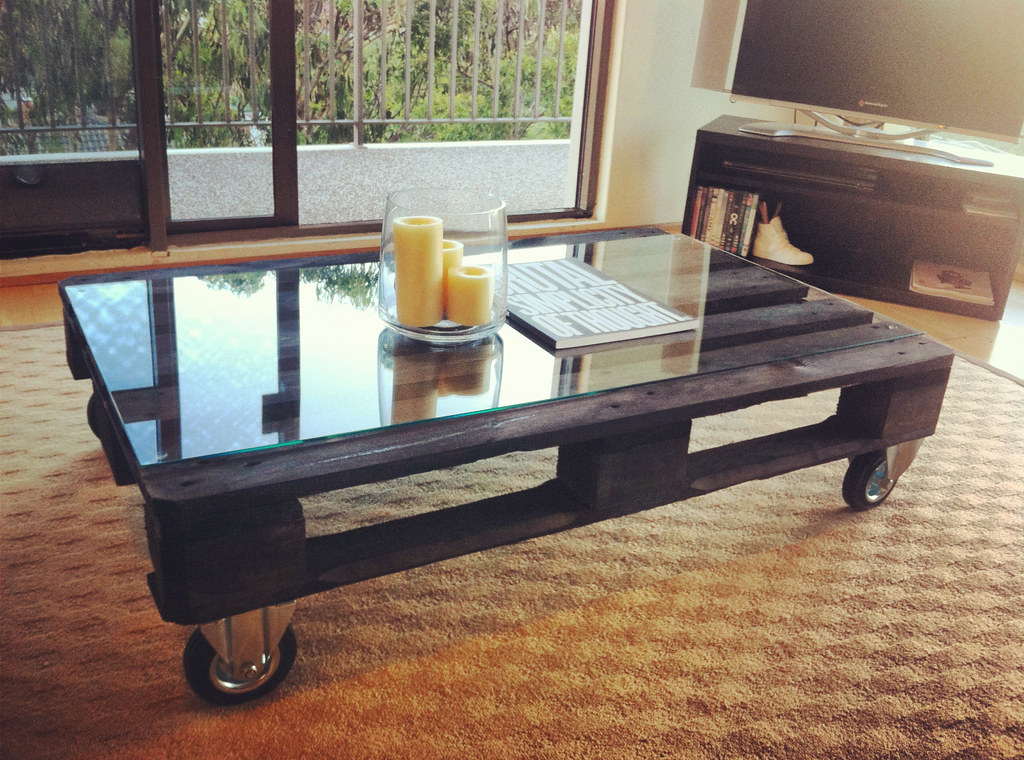 Pallet Coffee Table Black Stained Coffee Table Made From A Flickr