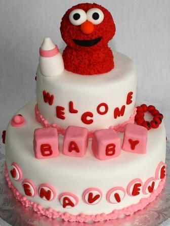 baby elmo tiered baby shower cake jenavieve by jeanne aj 39 s moonlight