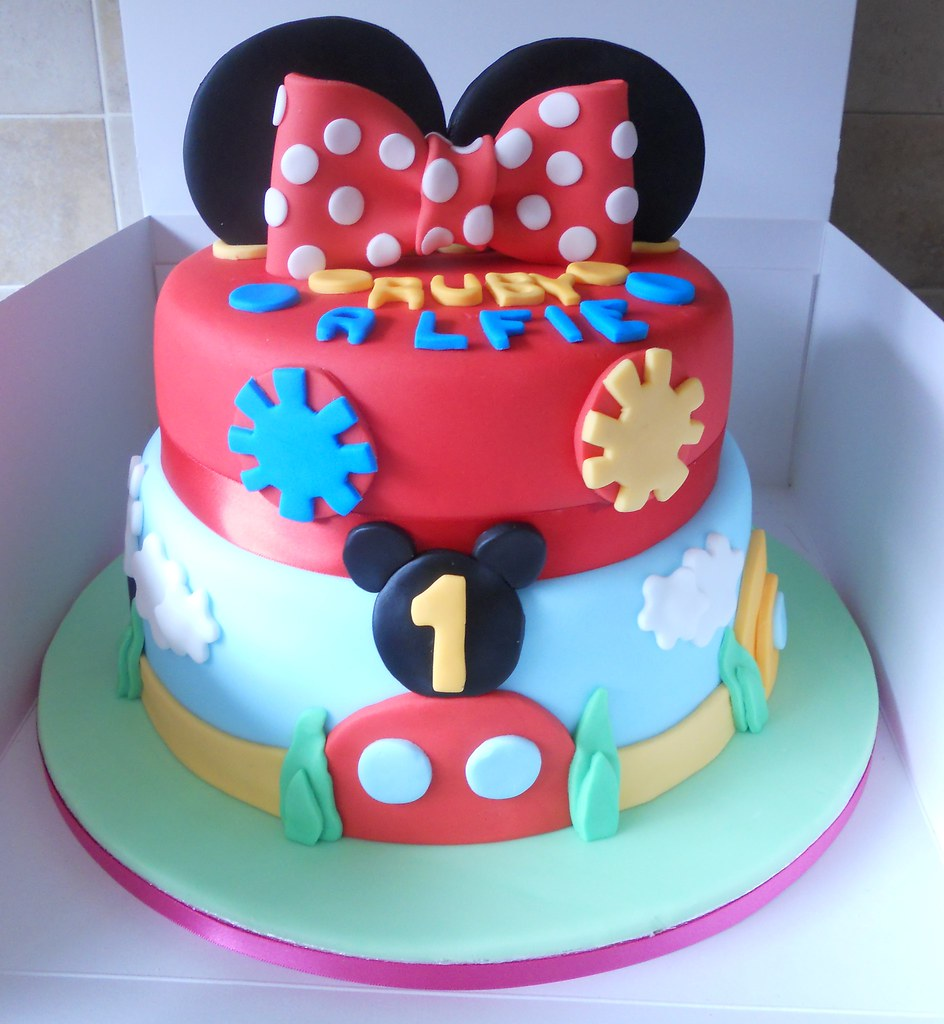 Images Of Mickey Mouse Clubhouse Birthday Cakes : Mickey Mouse Clubhouse Birthday cake 2 tier Bottom tier ...