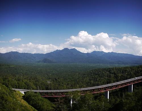 View from Mikuni Pass (Hokkaido, Japan)