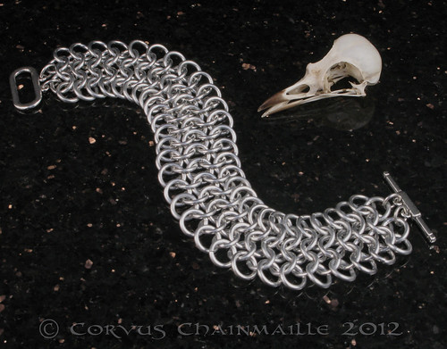Euro 4in1 mans bracelet | by Redcrow at Corvus Chainmaille