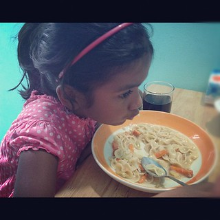 Lunch!! First homemade carbonara!! | by Aishath Azleena