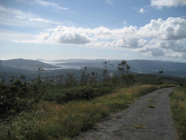 Ría de Muros e Noia desde el monte Culou en Lousame