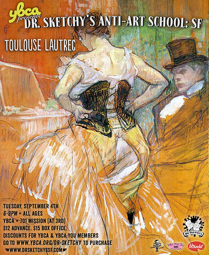 Dr Sketchy's 9/4 Toulouse Lautrec | by Alice Stribling
