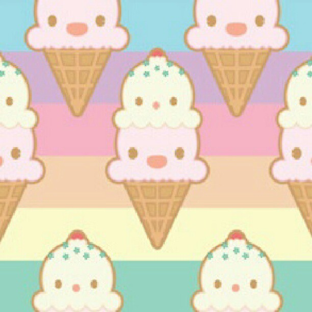 Cute Ice Cream Wallpaper: #IceCream #Pattern #wallpaper! Also Found In Another Color