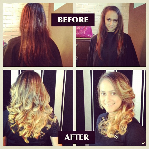 Ombre Hair Color Before Amp After G Michael Salon Flickr