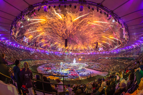 30 - August - 2012 -- Paralympics Opening Ceremony Fireworks | by reway2007