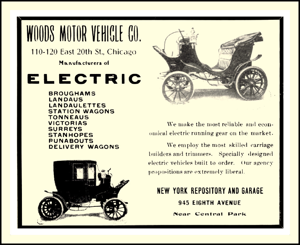 1904 woods electric motor vehicle company chicago illinoi Motor vehicle chicago