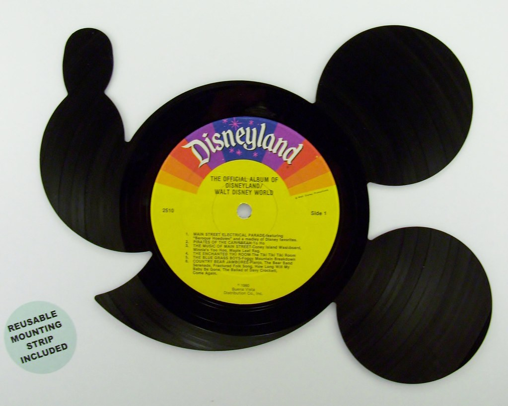 Recycled Mickey Mouse Vinyl Record Wall Art | Blackberry Hill ...