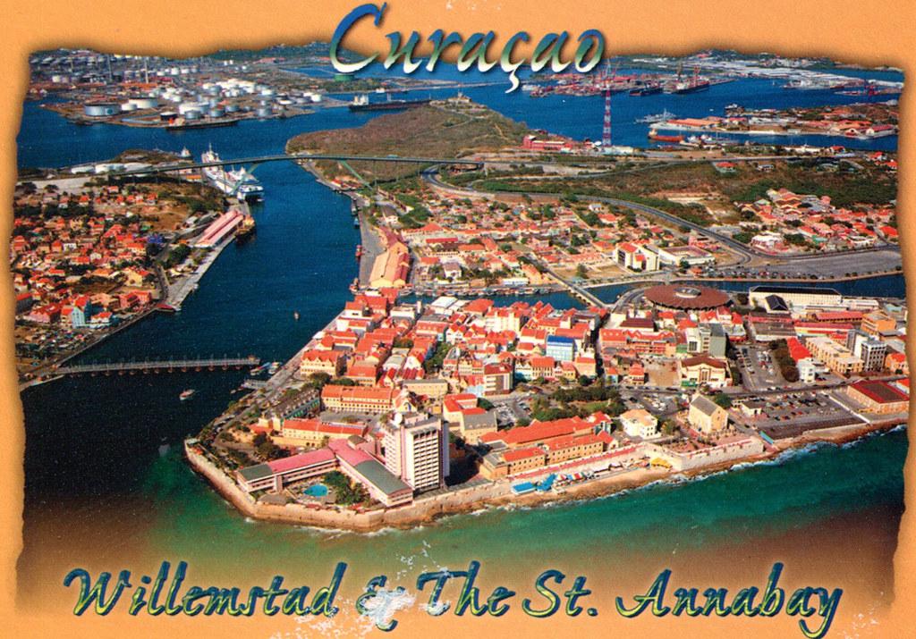 Cura 231 Ao Air View Of Willemstad Postcard A Postcard
