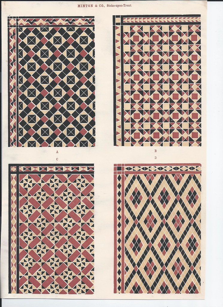 Minton Floor Wall Tiles 1851 Original Print Photojojo3 Flickr