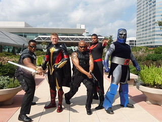 BLADE,QASAR,DR. STRANGE  AND DARKSEID COSPLAY | by THESMOKE007