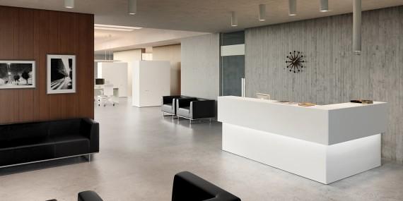 Proyectos recepciones proyecto recepci n mostrador con for Diseno de recepciones oficinas