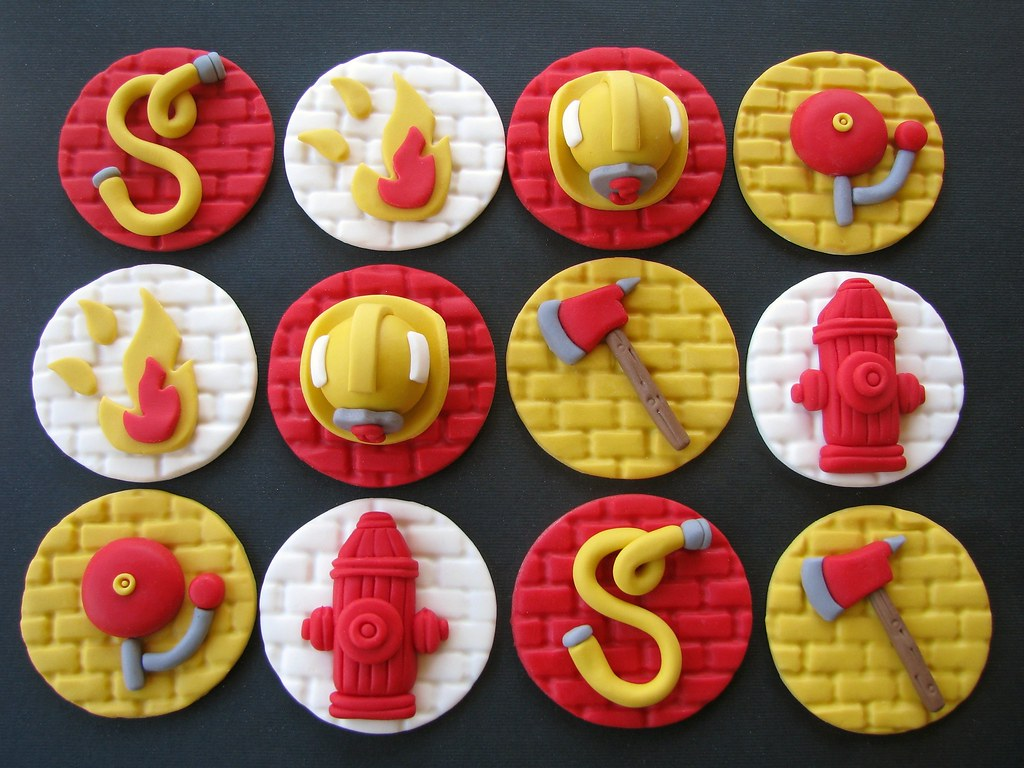 Firefighter Cupcake Decorations Firefighter Cupcake Toppers Lynlee Flickr