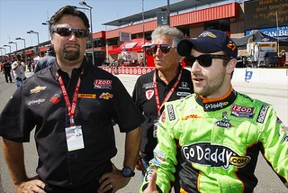 Michael Andretti, Mario Andretti and James Hinchcliffe | by IndyCar Series