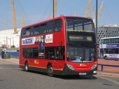 London Central, E050 [LX56ETV] - London, North Greenwich (03/09/12) | by David's NWTransport