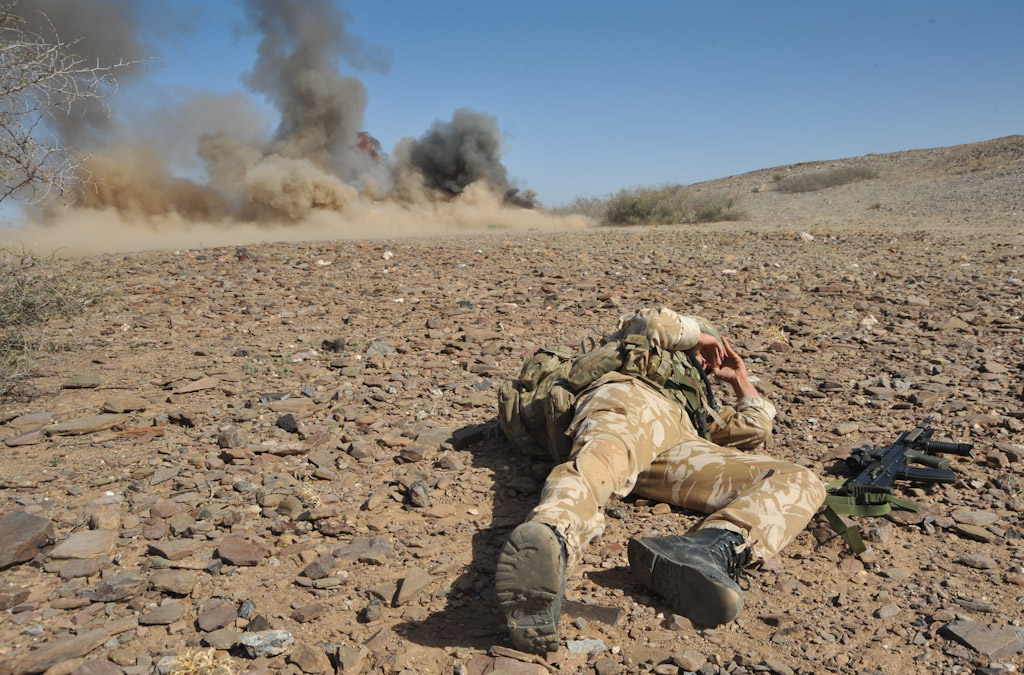 ied explosion exercise jebel sahara joint military