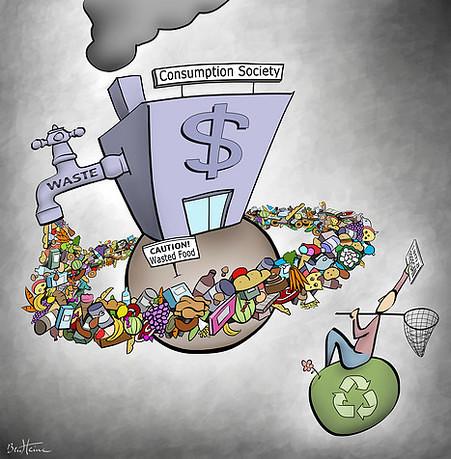 """大量製造,過度消費,正加速地球資源的消耗,以及製造更多的二手衣成為問題。(圖片來源:<a href=""""https://envgroup13.wordpress.com"""">Envgroup13</a>)"""