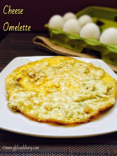 Cheese Omelette Recipe for Babies, Toddlers and Kids1