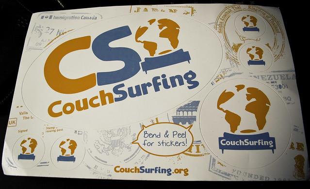 Postal / Calcomania / Codigo certificación Couchsurfing
