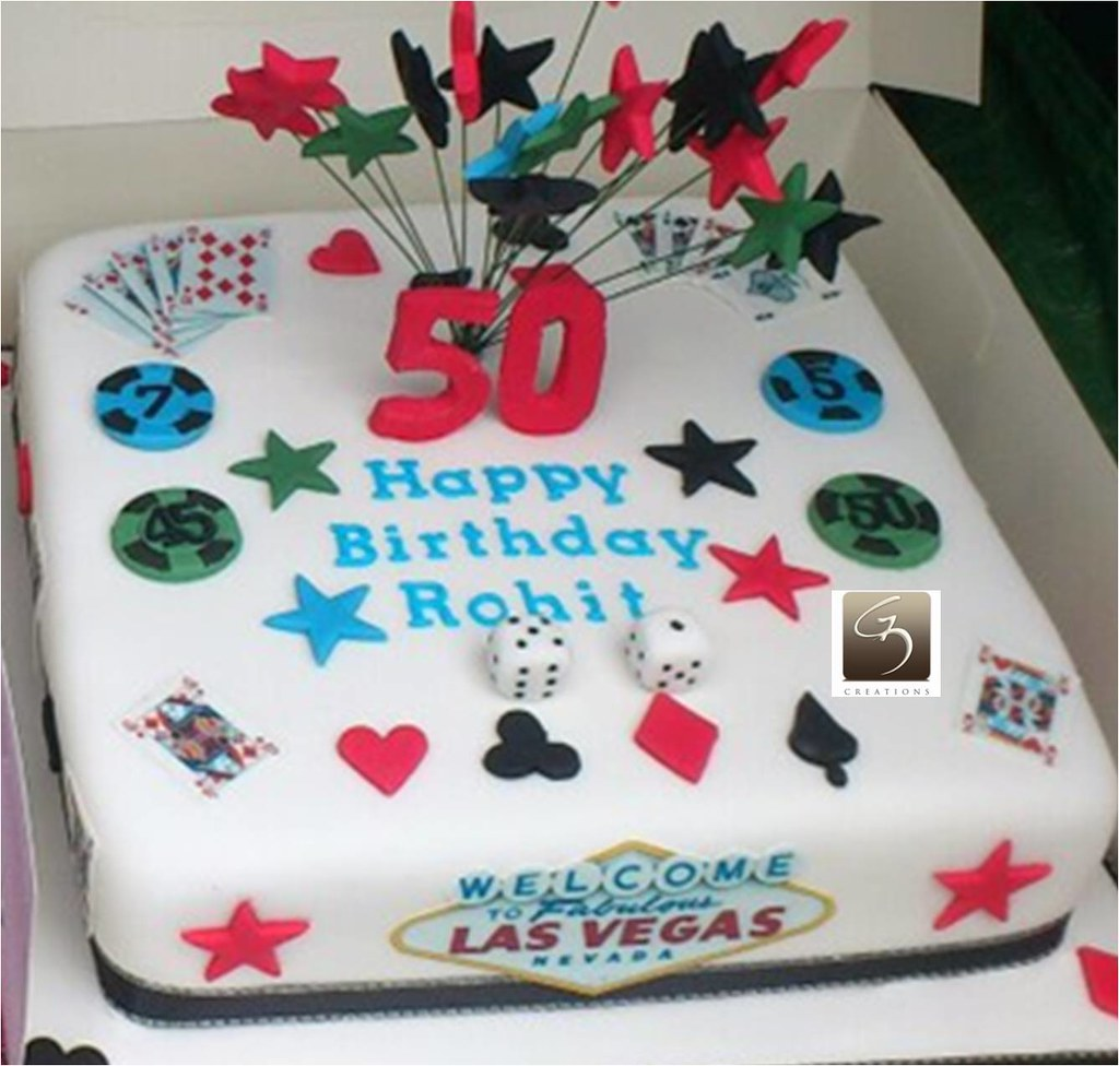 Las Vegas Themed Cake Las Vegas Themed 50th Birthday Cake Flickr