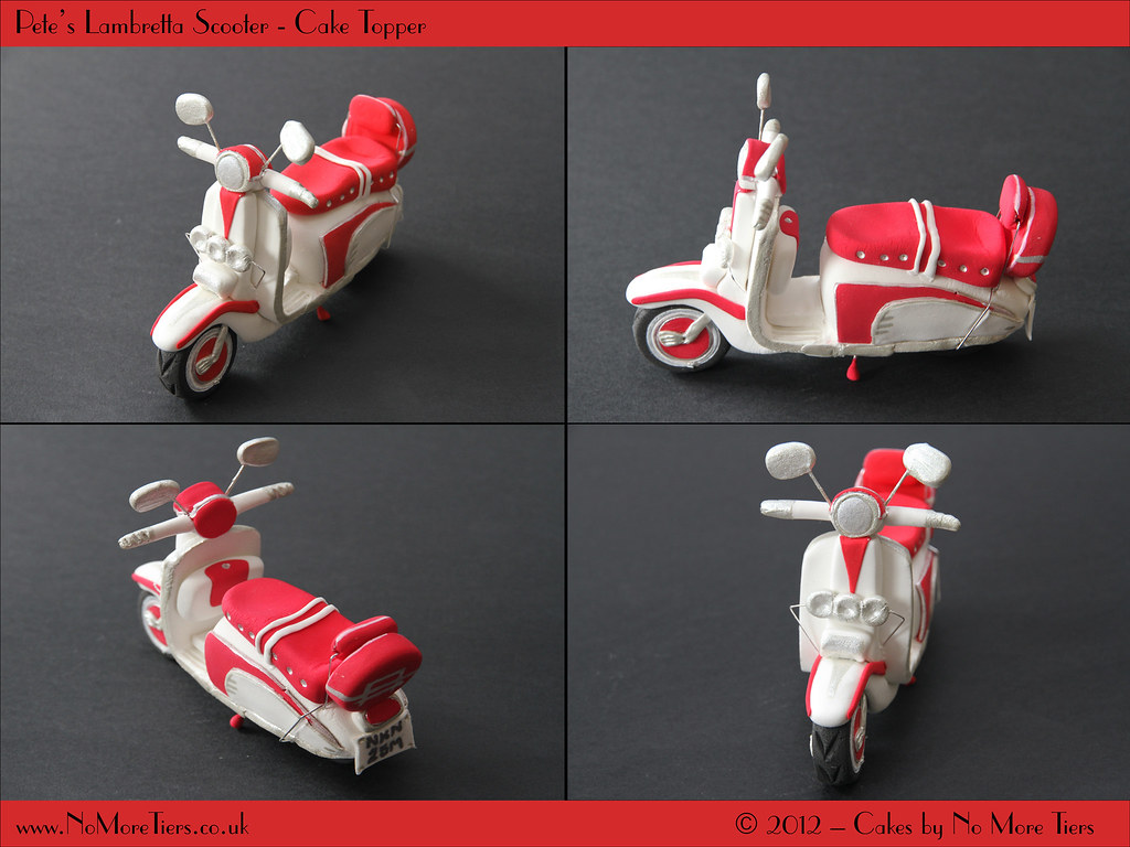 Lambretta Scooter Cake Topper Here S My Latest Bespoke