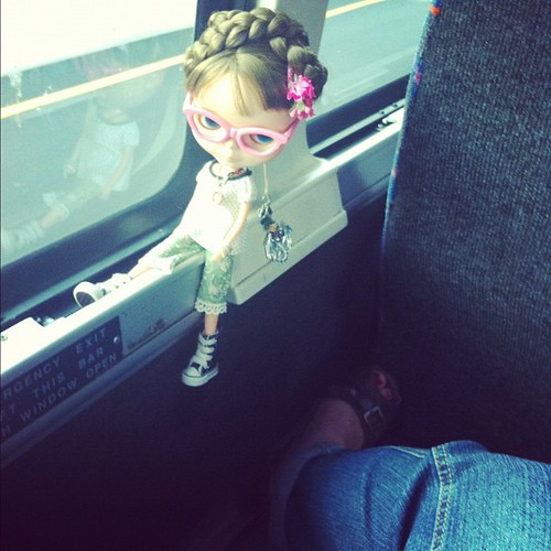 Yes.... I actually let her travel this way. In full view. | by The Brass Cupcake