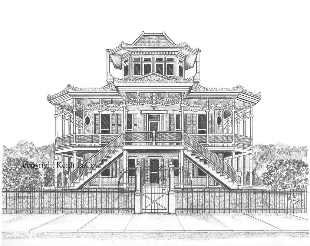 Steamboat House / New Orleans, LA | Pencil drawing by ...