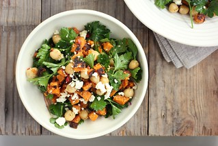 roast kumara, chickpea + feta salad w/ spiced lemon dressing | by My Darling Lemon Thyme