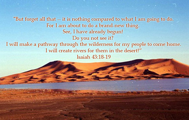 isaiah 43 18 how to forget