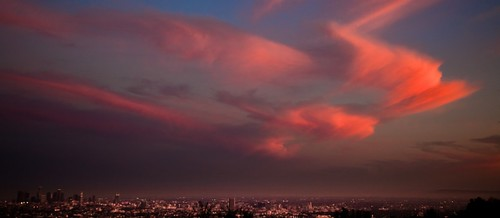 apocalyptic clouds floating over los angeles | by Moby's Photos