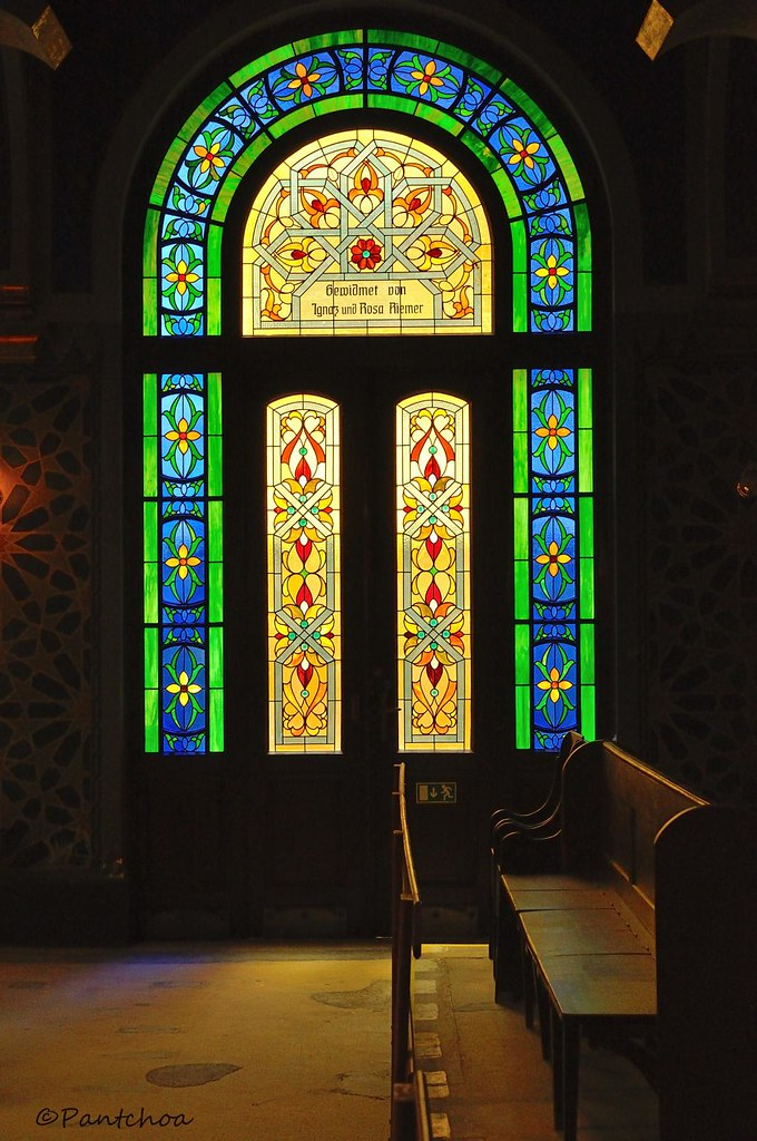 Prague Stained Glass Window Jubilee Synagogue Jubile