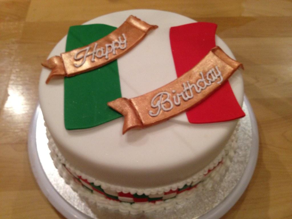 Italian Flag Birthday Cake Shell1506 Flickr