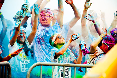 The Color Run NYC, New York, NY. Sat Aug 25 at am, Hey Guys!Thought id let you know about something I want to do in August and wanted to spread the news about. You wear a white t-shirt to the race and at every kilometer you get sprayed with a different color and at the end you look like.