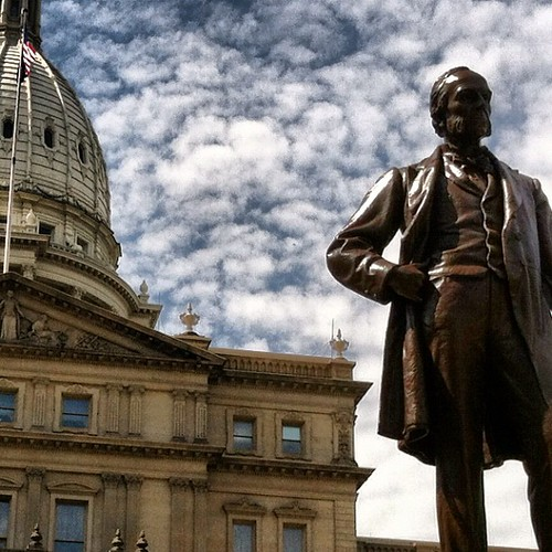 "Michigan's ""War Governor"" sported some fine chops. #facialstatuhairy #puremichigan 